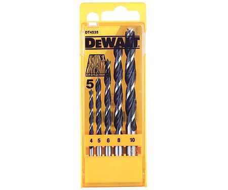Набор сверл по дереву DeWALT DT4535 (4, 5, 6, 8, 10 мм)