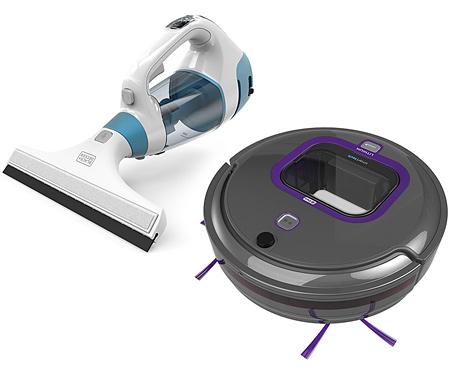 Робот-пылесос+пылесос для мытья окон BLACK&DECKER RVA420BP+WW100