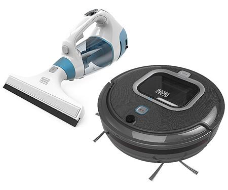 Робот-пылесос+пылесос для мытья окон BLACK&DECKER RVA425B+WW100